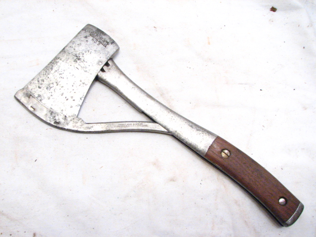 Antique Marbles Arms Amp Mfg Co Safety Axe Camp Hatchet Wood