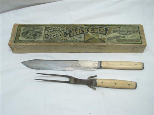 Antique northampton cutlery carving set carvers knife