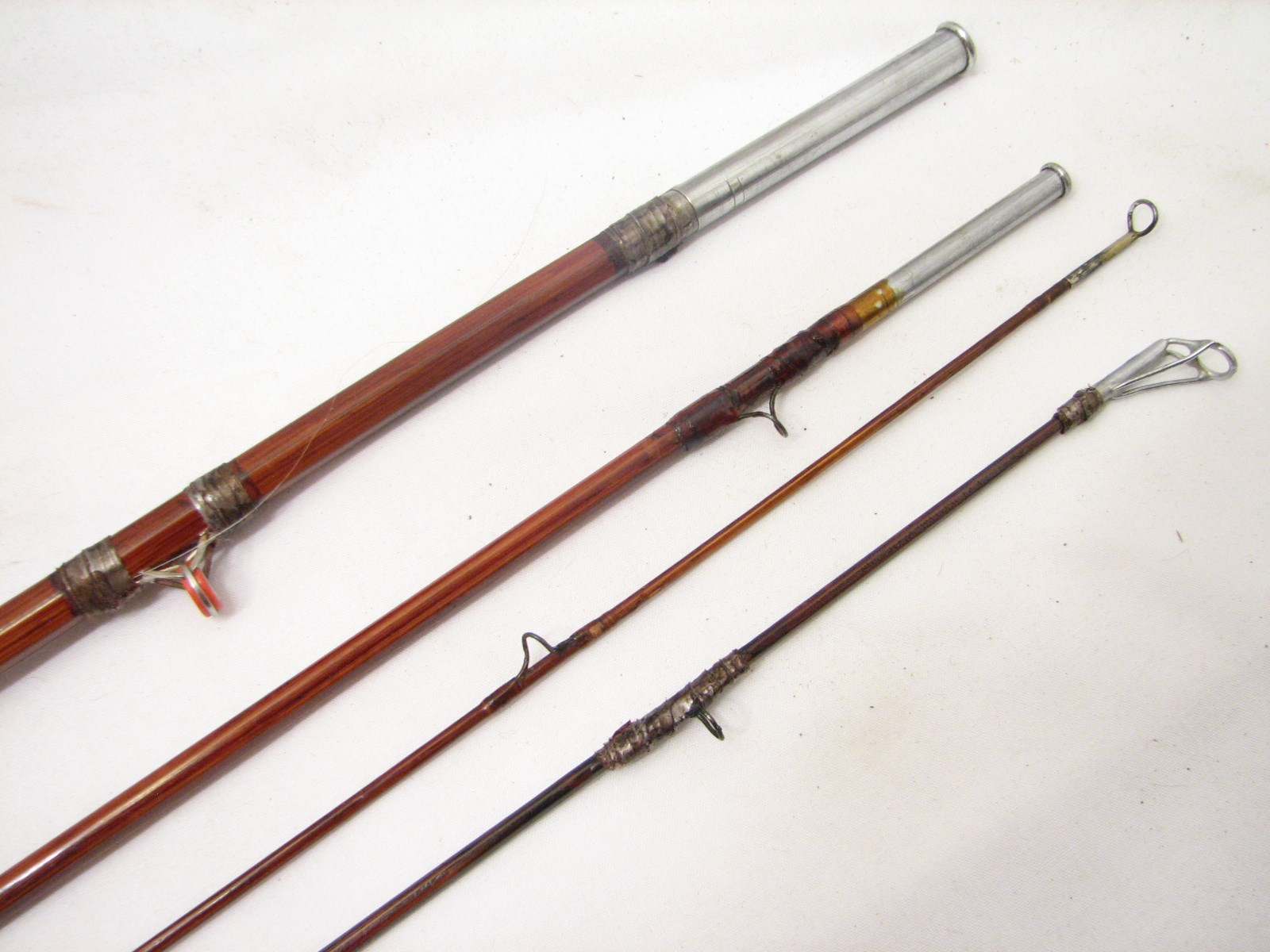 Vintage south bend 323 9 39 bamboo fly fishing rod fish ebay for Vintage fishing poles