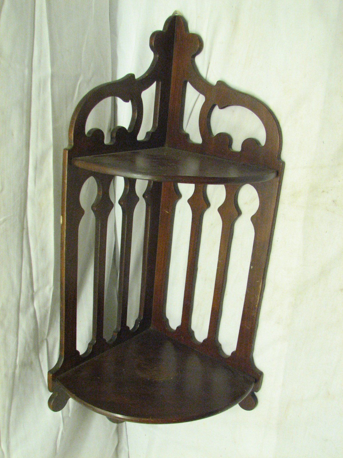 antique ornate victorian wooden corner wall shelf primitive trinket wood ebay. Black Bedroom Furniture Sets. Home Design Ideas