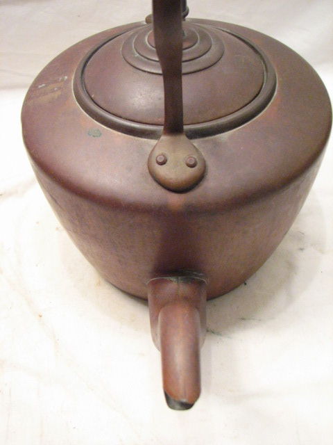 how to clean a large copper kettle