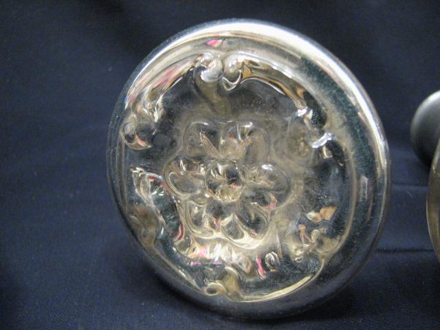 3 Antique Mercury Glass Door Knobs Handles Vanity Cabinet Hardware Mirror
